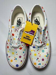 Vans UV INK ERA STACKED SIZE (5, 6, 6.5, 7, 9) WOMENS WHITE FLORAL * TIK TOK *