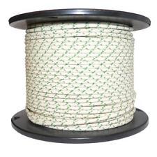 1M coton tressé électrique automobile Câble Fil Calibre 16 blanc & vert fleck