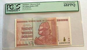 2008 Zimbabwe 20 Trillion Dollars Pick 89 PCGS 68PPQ