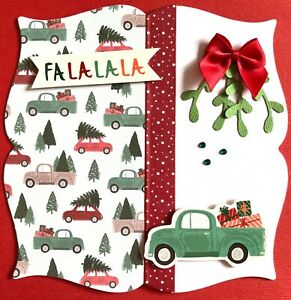 Handmade By Susie Driving Home For Christmas Card Topper FLAT RATE UK P&P