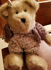 boyds bear violet lefleur flowered jumper purple sweater & bow