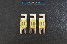 (3) 60 AMP MINI ANL FUSES GOLD PLATED INLINE AFC AFS BLADE AUTO HOLDER MANL60