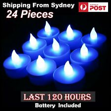24X LED Candle Tea Light Last 120 hours Red Flameless Battery Lights Operated AU