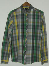 "H&M Men's Check Cotton Long Sleeve Shirt Size L 44"" Chest"