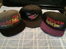 Vintage Holyfield Tyson Hat Lot Of 2, MGM Grand Fight Buster Douglas Cap Boxing