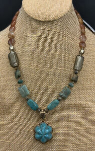 Barse Idlewild Necklace- Turquoise & Other Stones- Bronze- NWT