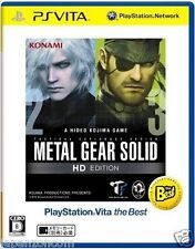 Used PS Vita METAL GEAR SOLID HD EDITION SONY PLAYSTATION JAPANESE IMPORT
