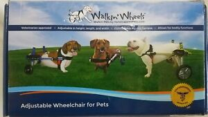 Walkin Wheels Wheelchair Small Handicapped Dogs 8-25 lbs Camo *INCOMPLETE*    e3