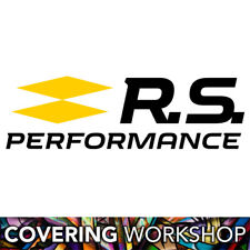 Sticker logo Renault Sport RS Performance bi-color 15cm