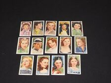 1939 CIGARETTE TOBACCO CARDS GALLAHER MY FAVORITE PART 14 MOVIE STAR CARD LOT