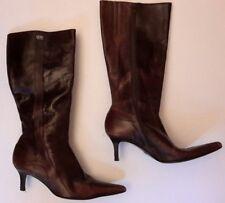 Buffalo London Brown Leather Boots Womens UK5  Mid Calf Boot Size EU 37 UK 4