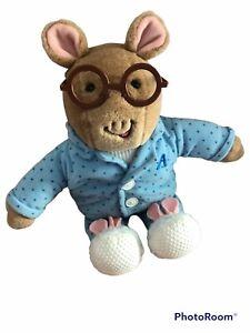 "Arthur 12"" Plush Stuffed Animal - Bedtime Pajamas Bunny Slippers -1995 Eden"