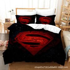 Superman Duvet cover Superhero Comforter Cover Pillowcases Bedding Set 3PCS Gift