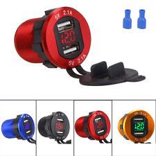12V-24V Voltmetro digitale a LED Caricatore per auto accendisigari doppia USB