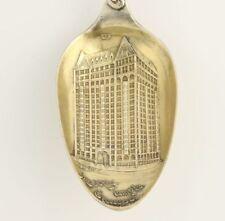 Chicago Masonic Temple Souvenir Spoon - Sterling Silver Shriners Blue Lodge