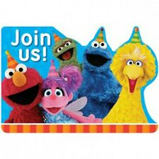 Sesame Street Party Invitations x 8 Birthday Invites Envelopes Supplies