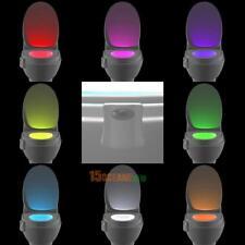 8Farbe LED Nachtlicht WC Sitz Klobrille Klodeckel Lampe + Bewegung Motion Sensor
