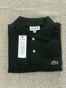 LACOSTE men's polo tshirt classic fit size M green - NWT