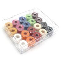 20x Colorful Sewing Threads Plastic Bobbins Sewing Machine Plastic Spools Too YK