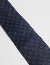 Ted Baker dunkelblau Toffee Micro Dots Print 100% Seide Gewebt Jacquard Krawatte NEU!!!