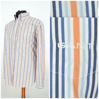 Mens GANT Liberty Bell Poplin Long Sleeve Shirt Striped Multicoloured Size XL