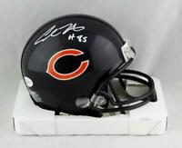 Cole Kmet Autographed Chicago Bears Mini Helmet - Beckett W Auth *White