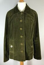 Long Tall Sally Relaxed Fit Blazer Jacket Cord Coat Dark Olive Green Size UK 18