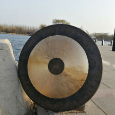 More details for suspended gong gong 40cm hand made copper sound gongs celebration festival