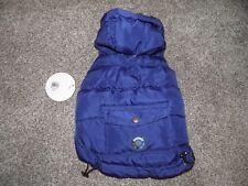 NUOVO CON ETICHETTE PMP per Cane freddo avviso tecnologia Puffa Cappotto Di Pioggia Blu Scuro XS
