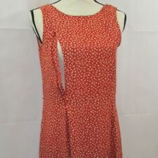 Breastfeeding Nursing Red Floral Sleeveless Dress Size M Zip To Feed Technology