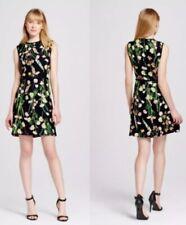 03a4c8446a1 Victoria Beckham for Target Black English Floral Satin Sleeveless Dress XS