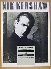 1989 Nik Kershaw photo The Works album promo UK vintage print Ad