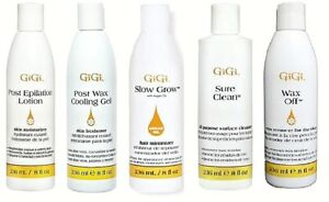 Gigi SURE CLEAN, POST WAX COOLING  GEL, SLOW GROW WAX OFF --  FREE SHIPPING!