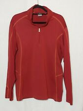 Men's Nike Golf 1/4 Zip Therma-Fit Red Pullover Size Large