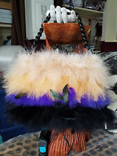 BETSEY JOHNSON - Multi-Colored Feather Handbag Clutch
