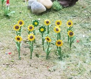 MP SCENERY 16 Sunflowers N Gauge Model Flowering Plants Railroad Farm Layout