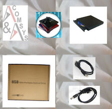 Externo USB 2.0 combo CD ± RW DVD ± RW quemador CD + DVD RW re-writer slim Black OVP