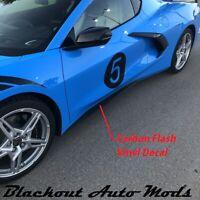 2020 C8 Corvette Stingray Carbon Flash Rocker Extension Vinyl Decal
