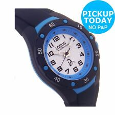 Lorus Kids Navy Blue Silicone Strap Easy Read Dial Bezel Analogue Watch