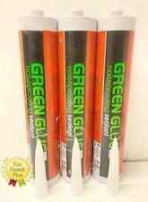 Green Glue NoiseProofing Acoustical Caulk Sealant - Lot of 3 Tubes (29oz each)