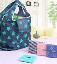 New BAGCU Eco Friendly Reusable Shopping Bag Grocery Washable Bag-Blue Stars