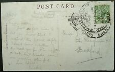 CANADIAN EXPEDITIONARY FORCE 5 FEB 1915 PATRIOTIC POSTCARD TO BEDFORD, ENGLAND