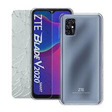 ZTE Blade V2020 Smart Transparent Schutz Hülle Handy Tasche +PANZERSCHUTZGLAS 9H