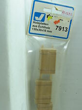 Viessmann H0 7913 Holzplatten aus Echtholz 130x30x16 mm OVP (y2266)