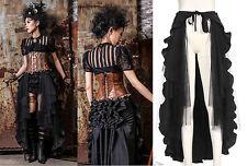 Gothic Steampunk RQ-BL Rock Rüschen Skirt Vintage Tornüre Cape Umhang WGT SP100