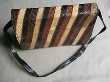 WIDEGATE LONDON ENGLAND HANDBAG SHOULDER BAG SNAKESKIN VINTAGE 40S 50S CLUTCH