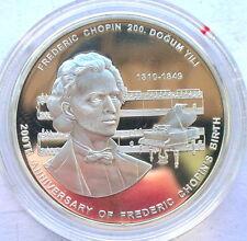 Turkey 2009 Chopin 50 Lira Silver Coin,Proof