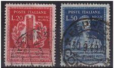 1949 ALESSANDRO VOLTA SERIE CPL n° 139 DI 2 VALORI USATI E PERFETTI DENT. 14,25