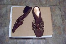 womens lifestride jitter copper strappy beaded heels shoes size 11