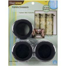 """Dritz Home Curtain Grommets 1.5625"""" Inner Diameter Plastic-matte Black 8/pkg"""